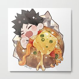 [HQ x Breakfast] Iwaizumi x Baked Potato Metal Print