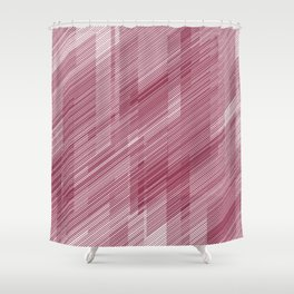 The Red Hash - Geometric Pattern Shower Curtain