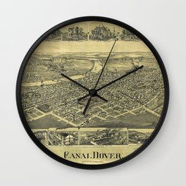 Aerial View of Canal Dover, Ohio (1899) Wall Clock