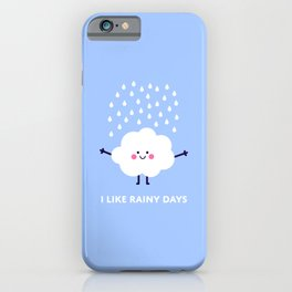 Cute rain cloud iPhone Case