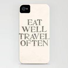 Eat well, Travel often Slim Case iPhone (4, 4s)
