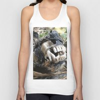 animal skull Tank Tops featuring Animal Skull by CJ Thornburg