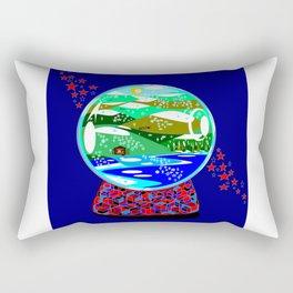 A Snow Globe of the Mountains of Kentucky Rectangular Pillow