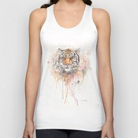 "trippy Tank Tops featuring ""Trippy Tony"" by PaintedBunting"