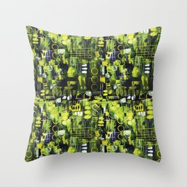 Northern Lights Abstract Painting Throw Pillow
