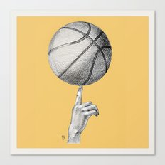 Basketball spin orange Canvas Print