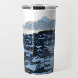 Twilight in the Ski Resort Travel Mug