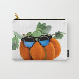 Pumpkin handmade from felted wool in glasses for celebration of Halloween Carry-All Pouch