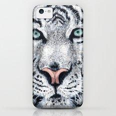 White Tiger iPhone 5c Slim Case