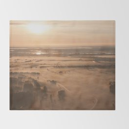Misty SunRise Throw Blanket