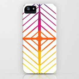 Sunset Gradient Lines iPhone Case