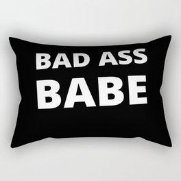 Bad Ass Babe. Girl Power Shirt for the Boss Ladies Rectangular Pillow