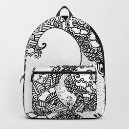 Unity of Halves - Life Tree - Rebirth - White Black Backpack