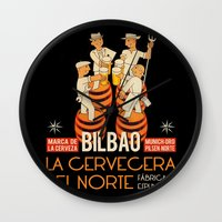 La cervecera del norte Wall Clock