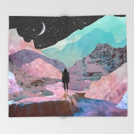The Mountains of Lemuria Throw Blanket