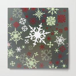 Christmas pattern with snowflakes Metal Print