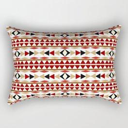 Navajo White Pattern Art Rectangular Pillow