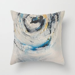 White Art Throw Pillow