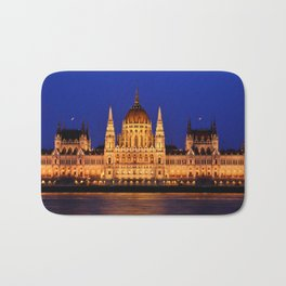 Panorama view of the famous Hungarian Parliament Bath Mat