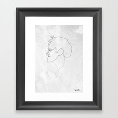 One line Quentin Tarantino Framed Art Print