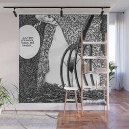 asc 588 - La fille dans la grange II (Caution Stranger, forks are danger) Wall Mural