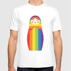 Sochi Russian Doll Mens Fitted Tee White SMALL