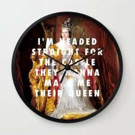 George Hayter, Coronation of Queen Victoria (1838) / Halsey, Castle (2015) Wall Clock