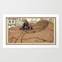 LOST IN THE DESERT Art Print