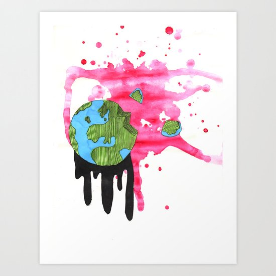 Broken Earth  Art Print