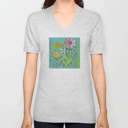 Petty Flowers Pattern 3 Unisex V-Neck