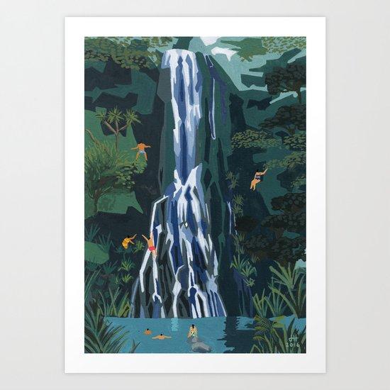 Waterfall stop by helobirdie