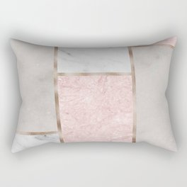 Pink stones - rose gold adorns Rectangular Pillow