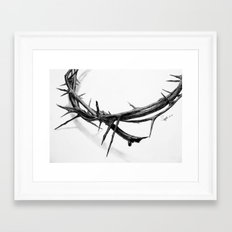 Crown of Thorns (Pencil Drawing) Framed Art Print