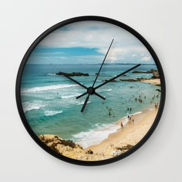 People Having Fun On Beach, Algarve Lagos Portugal, Tourists In Summer Vacation, Wall Art Poster Wall Clock