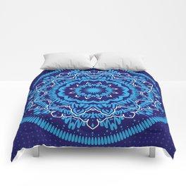 Mandala 010 Blue Mix Comforters