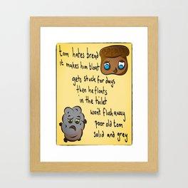 Poop Productions Presets - Tom Poo Framed Art Print