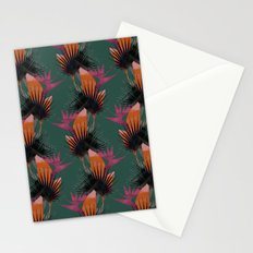 Strelitzia Night Green Stationery Cards