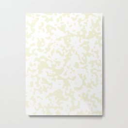 Tiny Spots - White and Beige Metal Print
