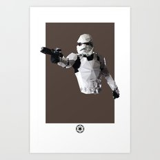 Stormtrooper Polygon Mesh Art Print