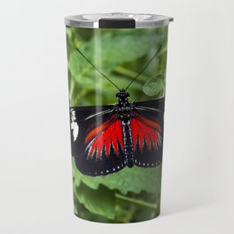 Black and Red Butterfly - Insect Photography Travel Mug