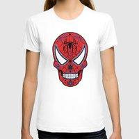 superheros T-shirts featuring Spidey Sugar Skull by Clark Street Press