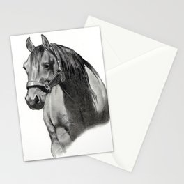 Horse Head in Pencil, Equine Art, Drawing Stationery Cards