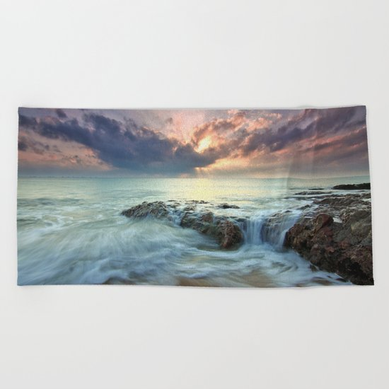Swept Beach Towel
