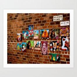 Brick Wall Art Art Print