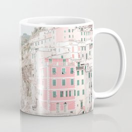 Positano, Italy pink-peach-white travel photography in hd. Coffee Mug