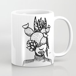 Succulent & Cactus Head Pot, The Bouquet by Pablo Rodriguez (Pabzoide) Coffee Mug