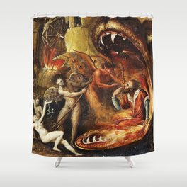 Demons and creatures Shower Curtain