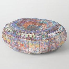 LA TURBINA MANDALA ART Floor Pillow