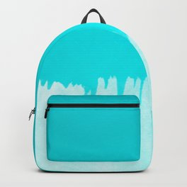 Modern turquoise ombre white abstract watercolor brushstrokes Backpack