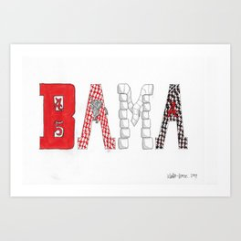 BAMA - Roll Tide Art Print